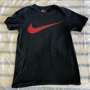 Nike Logo Athletic Cut Black Shirt Size XS/S